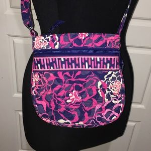 Vera Bradley pink purple floral crossbody purse